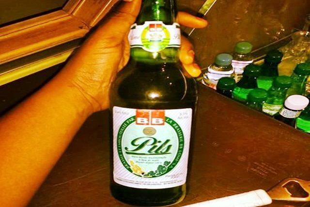 Une bouteille de PILS