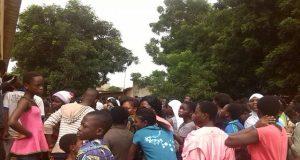 Ambiance lors de la proclamation des résultats au centre de Totsi à Lomé