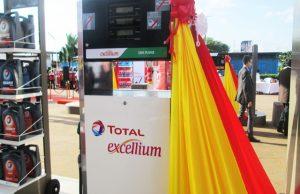 Une image de la station Total du carrefour GTA à Lomé