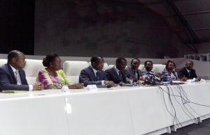 Des cadres du parti UNIR lors de la rencontre