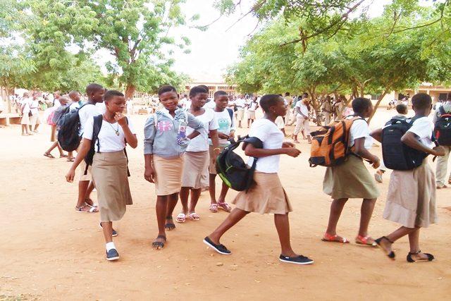 Ambiance ce matin au CEG Agoè-centre à Lomé