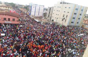 Des manifestants à Dékon ce mercredi