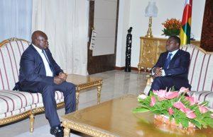 Faure Gnassingbé et Cipriano Cassama