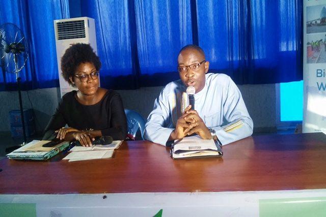 Les promoteurs de la foire lors de la conférence