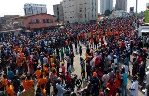 Les manifestants ce mardi à Lomé