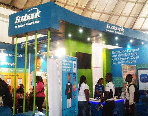 Le stand d'ECOBANK sur le site de la foire