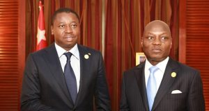 Faure Gnasingbé et Mario José Vaz samedi à Addis Abeba