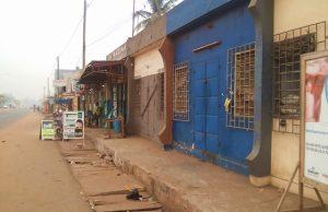 Image d'une rue de Lomé ce mardi