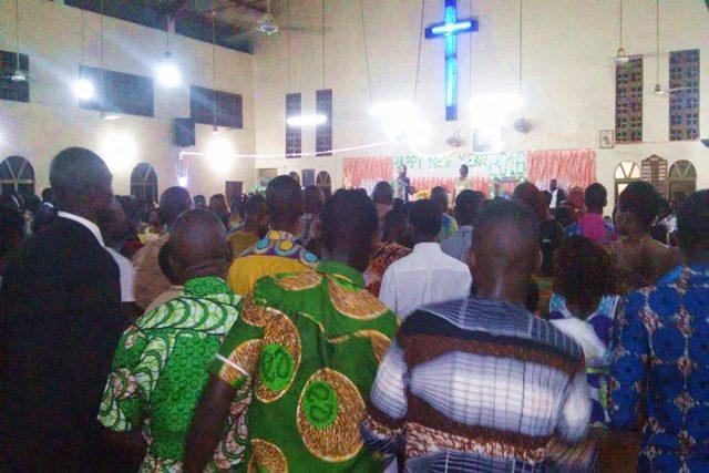 Messe du réveillon 2017 à l'EEPT paroisse d'Agoè Nyivé à Lomé