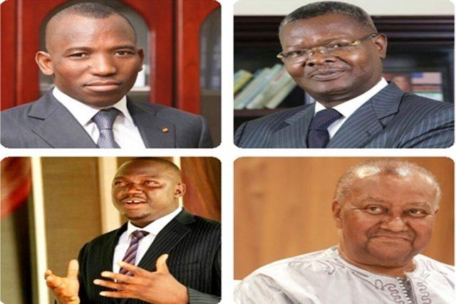 Gilbert Bawara, Agbéyomé Kodjo, Gerry Taama et Gilchrist Olympio