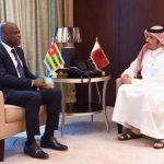 Robert Dussey et Cheikh Mohamed bin Abderrahmane Al-Thani