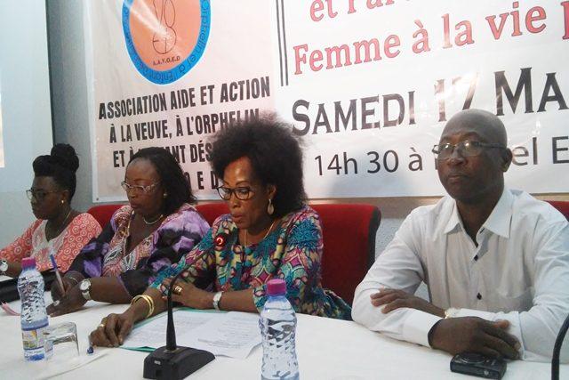 Des responsables de l'AAVOED à l'ouverture de la conférence