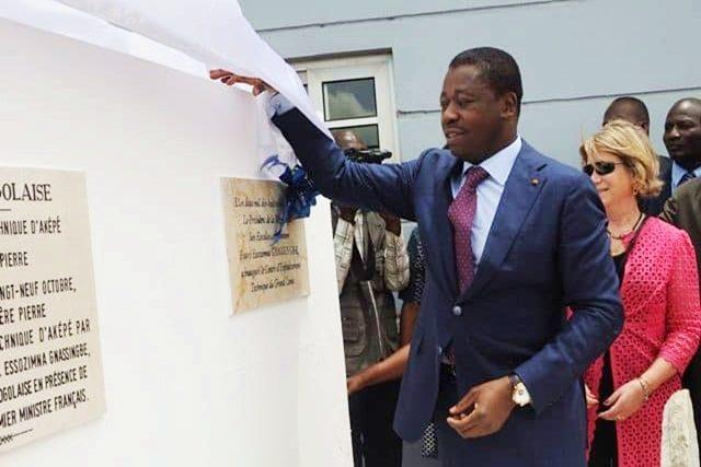 Dévoilement de la plaque inaugurale par Faure Gnassingbé