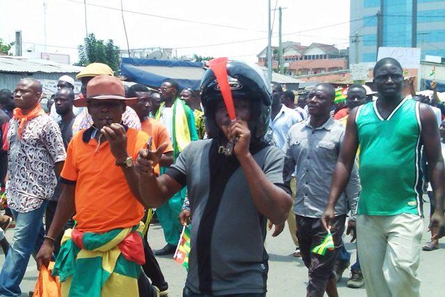Des manifestants de l'opposition à Lomé (archives)