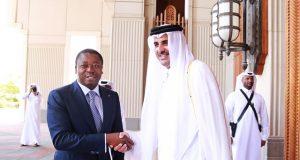 Faure Gnassingbé avec l'Emir Tamim Ben Hamad Al Thani.