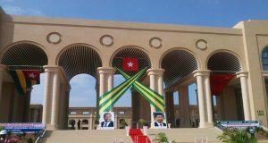 Une vue de l'entrée du nouveau siège de l'Assemblée nationale