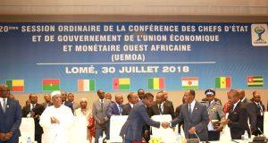 20ème Session Ordinaire de l'UEMOA à Lomé