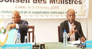 Patrice Kouamé et Robert Dussey lors de la réunion