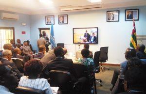 Présentation du rapport par vidéoconférence