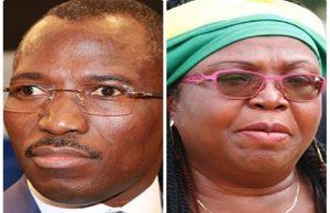 Gilbert Bawara et Brigitte Adjamagbo-Johnson
