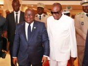 Les facilitateurs Nana Akufo-Addo et Alpha Condé (archives)