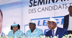 Le PM (en veste) et autres cadres du parti (©Afreepress)