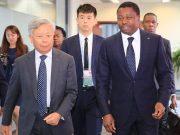 Faure Gnassingbé au siège de l'AIIB (archives)