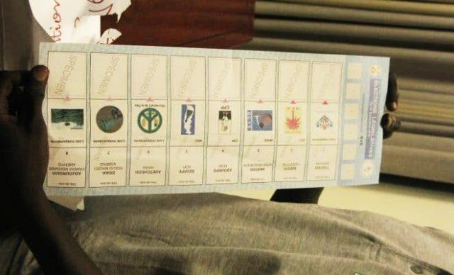 Spécimens de bulletin de vote