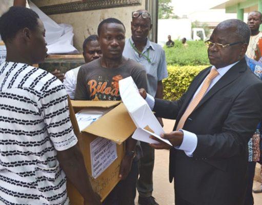 Réception des bulletins de vote par la CENI