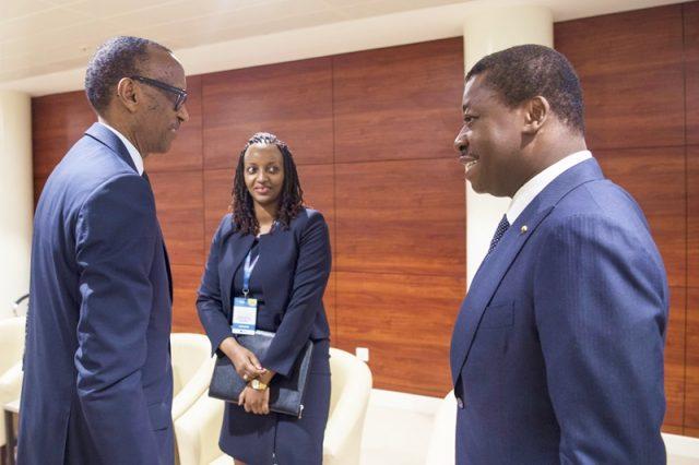 Faure Gnassingbé et Paul Kagamé au CEO Africa Forum