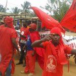 Des manifestants du PNP