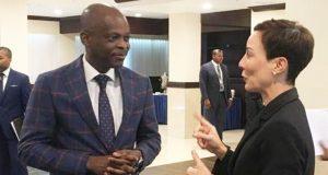 Robert Dussey et son homologue de la Jamaïque, Mme Kamina Johnson Smith