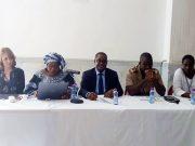 Les officiels au lancement du projet ERUDIT