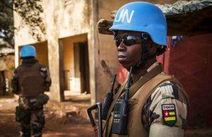 Image d'un casque bleu togolais (Image d'illustration)
